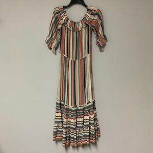 Off the shoulder stripe dress